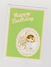 Blank Handmade Greeting Card ~ HAPPY BIRTHDAY with CUTE GIRL