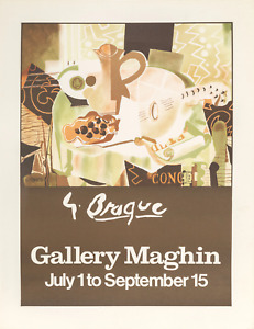 Georges Braque, Gallery Maghin, Offset Lithograph