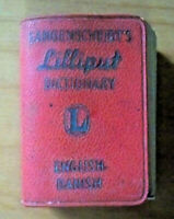 Langenscheidt's Lilliput Dictionary - English - Danish - 1959