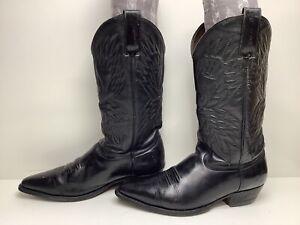 VTG MENS UNBRANDED COWBOY BLACK BOOTS SIZE 9.5