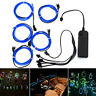 SOLMORE 5x1 Metre Waterproof LED USB EL Wire Neon Glowing Strobing Light