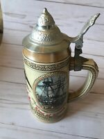 Ceramarte Budweiser G Series Numbered Lidded Beer Stein Early Transportation