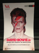 DAVID BOWIE is PROMOTIONAL FLYER BARCELONA 2017 SPANISH (MEDIUM)