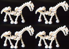 ☀️NEW Lego Friends Animal Pet White Skeleton Horse x4 Mini Figure