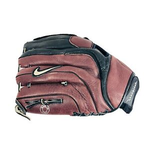 "Nike Athena Fast-pitch Glove 12.5"" 1250 Black Brown RHT RIGHT HAND THROWER"