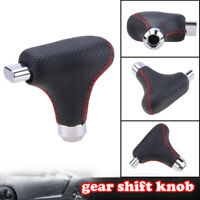 Car Automatic AT Gear Shift Selector Button Knob Shifter Lever Stick PU Leather