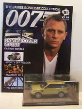 James Bond 007 Car Collection No 51 Range Rover Sport with magazine