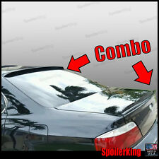 COMBO Rear Roof Wing & Trunk Lip Spoiler (Fits: Acura TL 1999-03) 284R/244L