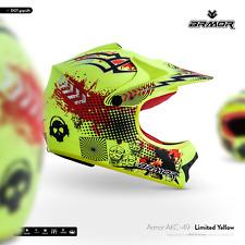 ARMOR AKC-49 Ltd Yellow casque cross enfant kids enduro quad moto MX XS S M L XL