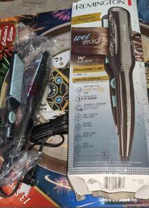 "NEW Remington Wet2Straight S7231 2"" Flat Iron Ceramic+Titanium Plates"