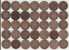 Group of (35) Copper-Nickel Indian Head Cents / Pennies (1859-1864)