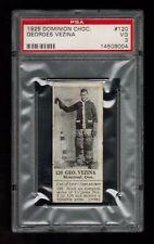 PSA 3 GEORGES VEZINA 1925 Dominion Chocolate Hockey Card #120