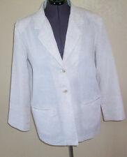Women's Sag Harbor Light Tan Linen Blend Blazer Jacket 12
