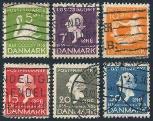 Denmark 246-251,used.Mi 222-27.Hans Christian Andersen,1935.Ugly Ducking,Mermaid