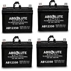 NEW 4 PACK AB12350 12V 35AH  Battery Replacement for Pontoon Trolling Motor