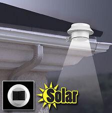 1pcs 3led Outdoor Solar Powered Security Spot Light Wall Lamp Gutter Garden