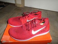 Nike Free RN Flyknit 2017 Running Shoes Red Black White 880843-006 Men's Size 11