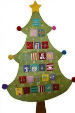 Gisela Graham Christmas Decoration - Bright Fabric Tree Advent Calendar