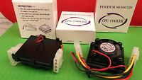 PC CPU Cooler Fan 12 V  + Heatsink P54C Pentium Intel P75 90 100 120 SECP082BAF