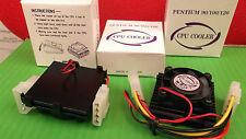 Ventola PER CPU PENTIUM + COOLER 12 Vcc DISSIPATORE PC Intel 90 100 120 x 1pc ono secp 102
