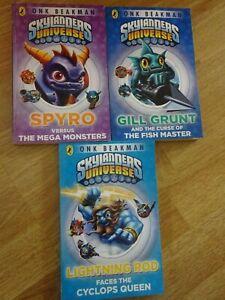 Skylanders Universe Paperback Books set of 3 (1, 2 & 3)