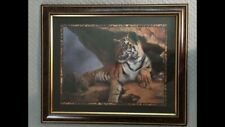 "Home Interiors * Tiger Picture * Linda Wacaster 33"" X 27"""