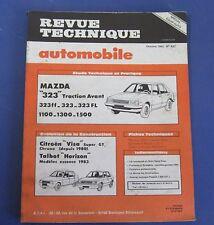Revue technique  RTA 437 Mazda 323 traction avant 323 ff FL 1100 1300 1500
