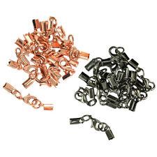 24 Ribbon Crimp Ends Lobster Claw Clasp Crimp For Leather DIY Craft Bracelet