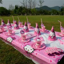 Hello Kitty Girls Birthday Party Supplies Bag Tableware Plate Cup Balloon Decor