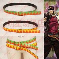 JoJo's Bizarre Adventure Kujo Jotaro Belt Cosplay Costume Prop 2PCS