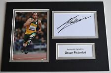 Oscar Pistorius Signed Autograph A4 photo display Olympic Runner Sport AFTAL COA