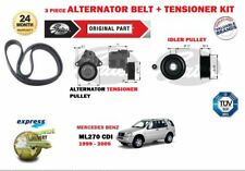 Per MERCEDES W163 ML270 CDI 1999-2005 NUOVO ALTERNATORE FAN CINGHIA + TENDITORE KIT