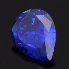 Unheated 16.87ct Royal Blue Sapphire 13x18mm Pear Cut AAAA+ Loose Gemstone