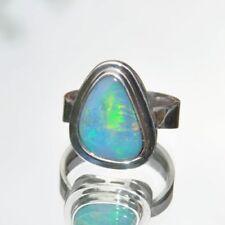 Ringe mit Opal Edelsteinen aus Sterlingsilber echten 58 (18,4 mm Ø)