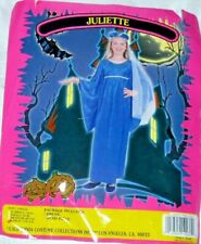 Juliette Blue Polyester Costume Dress & Head Piece-Child Size Large (10-12)