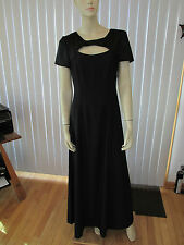 PAPELL BOUTIQUE EVENING Black Long Gown $280 NWT Satin Polyester Sz 6