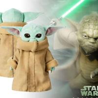 Christmas Gift Baby Yoda Plush Toy The Mandalorian Force Awakens Master Doll UK!