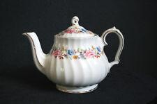 Vintage Floral Sadler Teapot Pink Roses Pastel Flowers Leaves Gold Trim ENGLAND