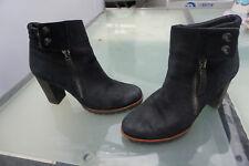 schicke PAUL GREEN Damen Schuhe Pumps High Heels Gr.6 / 39 schwarz Nubuk Leder