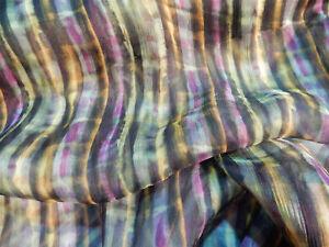 Liberty of London Silk Bloomsbury Crinkle Georgette Solsetur Purple and Yellow