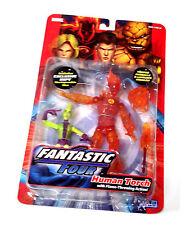 """Marvel Legends Fantastic Four 6 """"Human Torch & imposible Hombre Figura Set Raro"""
