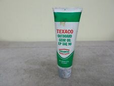 VINTAGE TEXACO  OUTBOARD GEAR OIL PLASTIC TUBE EMPTY GAS OIL ADVERTIZING SIGN