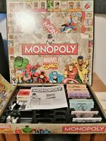 Monopoly Marvel Comics Retro BOXED WITH IRON MAN TOP TRUMPS CARD
