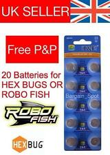 20 batteries de rechange pour HEXBUG Nano Robo Poisson crabe Hex Bug batterie tagamoto