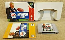 Cleaned & Tested Nintendo 64 Game Cartridge Instructions Box EA Sports Madden 99