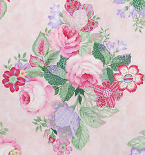 1/2 metre Pink Roses TulipsFlowers are my Favourite Thing Northcott Quilt Fabric