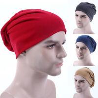 Unisex Mens Ladies Jersey Beanie Hat Thin Gym Running Stretch Cotton Slouch Cap