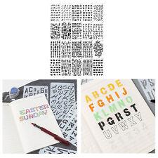 20 Piece Alphabet Stencil Sets Rulers Letters Number Stencils Lettering Template