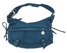 Benetton Tasche Schultertasche Nylon in türkisblau mezza luna Tasche wie neu