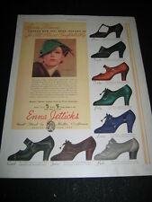 1936 PAPER AD 30's Enna Jetticks CLEO SUE VELMA EDITH FIFI VIOLET Print Ad